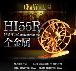 Wholesale Coil Reel - Flying Reel HI-55 Left Right CEWAY All Metal Fish Coil Fly Fishing Reel Material Tackle Equipment Ice Fishing Reel NEW 2017 FREE SHIPPING