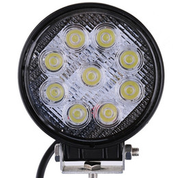 Wholesale Round Off Road Lights - 4 Inch 27W LED Work Light Offroad 12V Flood Spot Beam For 4x4 Off Road ATV Truck Boat Tractor UTV Motorcycle LED Driving Lights
