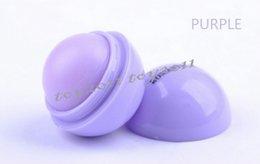 Wholesale Wholesale Organic Lip Balm - 2017 6Color Brand New Fashion Round Ball Natural Organic Embellish Lip Balm Lip Care Chapstic Woman should