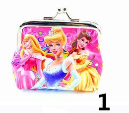 Wholesale Snow White Wallets - Cartoon Princess Snow White Girls Children colors coin Women purses wallet Material PVC Lady Coin Purses for Children N092