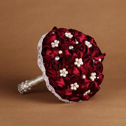 Wholesale Decorative Bouquets - Decorative Flowers Bridal Hand Holding Bouquet Real Touch Rose Bridal Bouquet Silk Flowers Wedding Supplies