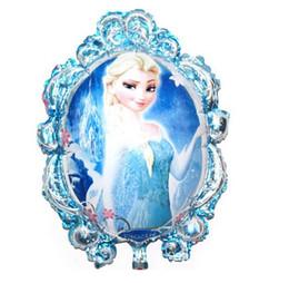 Wholesale Anna Mirror - New Arrive 79*65cm Frozen balloon Toys for birthday party Princess frozen Elsa anna Aluminum foil cartoon Mirror balloons