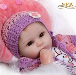 Wholesale Dolls 18inch - 18Inch Dolls 45cm Silicone Baby Reborn Dolls With Cotton Body Dressed in Nice Sweater Lifelike Doll Reborn Babies Toys for Girl