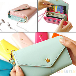 Wholesale Multifunctional Galaxy S3 Case - 2013 New Womens Multifunctional Envelope Wallet Coin Purse Phone Case for iPhone 5 4S Galaxy S2 S3 01GY