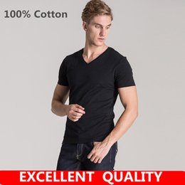 Wholesale Mens Logo Shirts - Summer Classic Men High Quality Brand LOGO Embroidery T shirt Short Sleeve Men T-shirt 100% Cotton Tees Tops Mens Brand tshirt Plus size