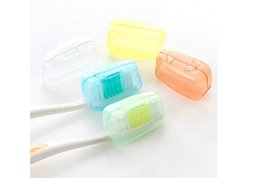 Wholesale Travel Toothbrush Covers - (1 set = 5Pcs )Portable Toothbrush Cover Holder Travel Hiking Camping Brush Cap Case