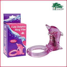 Wholesale Tpe Toys - Aphrodisia Cute Dolphin Vibrating Cock Ring Penis Ring Sex Toys For Men Female Clitoris Massage 100% TPE
