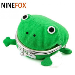 Wholesale Cute Wallets For Girls - Frog Shape Convenient Women Money Bags Casual Cute Wallet for Women Desiner Mini Frog Women Girl Coin Purse Animal