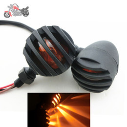Wholesale Motorcycle Turn Signal Lights Kawasaki - 12v Motorcycle Bobber Chopper Bullet Turn Signal Indicator Tail Light Integrated Lamp for Honda Kawasaki Suzuki clignotant moto 67