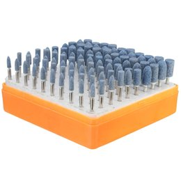 Wholesale Abrasive Wholesalers - Universal Rotary Assorted Abrasive Stone Accessory Tool Kit 100pcs order<$18no track