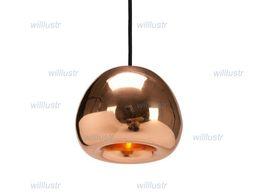 Wholesale Brass Ceiling Lights - Tom Dixon void pendant lamp void light copper, brass, steel Void mini Pendant Lamp Ceiling Light suspension lighting Chandelier