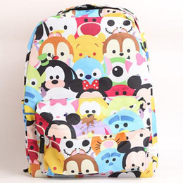 Wholesale Satchels For Kids - Free shipping Tsum Printing Backpack Cartoon School Bag Boys Girl Canvas Backpacks fashion Shoulder bag For Kids School Supplies