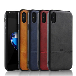 Wholesale Wholesale Leather Packaging - Fashion Business Leather Case For iPhone X 8 8plus 7 6s TPU Soft Case 4 Colors with Retail Package Free Shipping