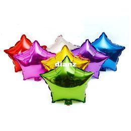 """le luci stellate gialle stellate Sconti Nuovo arrivo 18 """"Pollici Stagnola 45cm Palloncino Star 7 colori Helium Metallic Wedding"""