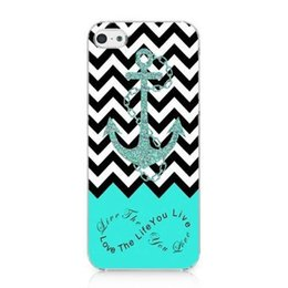 Wholesale Iphone 4s Retro - Wholesale Anchor Chevron Retro Vintage Tribal Nebula Hard Mobile Phone Case Cover For iPhone 4 4S 5 5S 5C 6 6 Plus