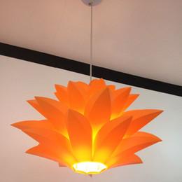Fleurs lampe pendentif lumière matériel de PVC 58 CM lotus forme DIY abat-jour chambre / magasins droplight suspendu luminaire ? partir de fabricateur