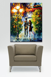 painting for lovers Coupons - Roamtic Lovers Date Night -100% Handpainted Palette Knife Oil Painting Canvas Wall Art for Hotel Office Home Decor