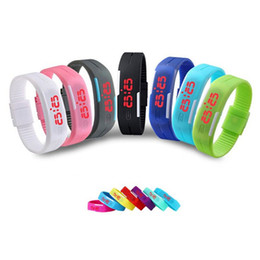 Wholesale Sports Watches Mix Colors - Man Sport Watch LED Watches Mens watch Silicone Students Watches Waterproof 30 Meters Kids Water Resistance Wristwatches Mixed Colors