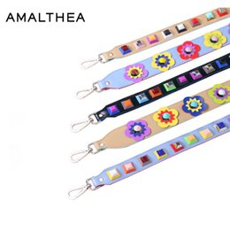 Wholesale Replacement Bag Strap - wholesale  AMALTHEA Rivet Women Bag Strap PU Shoulder Straps For Handbags Accessories Bag Casual Replacement Straps For Bags 2017 AMSP105