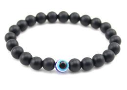 8mm noir pierre perles bracelet extensible avec mauvais oeil pour la protection Nazar ornement pour hommes femmes ? partir de fabricateur