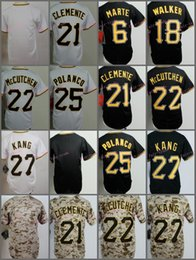 Wholesale Kids Walkers - Pittsburgh Youth Jersey Starling Marte Roberto Clemente Andrew McCutchen Jung Ho Kang Neil Walker White Black Camo Kid