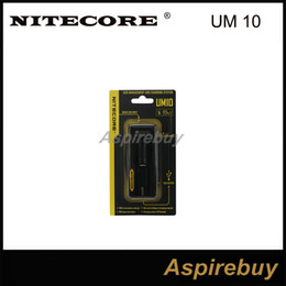Wholesale Multi Chargers - Authentic Nitecore UM10 Intelligent Multi Functional Battery Charger with LCD Display for 18650 14500 10440 17670 16340 Dry Battery Charging