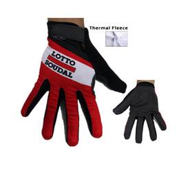 Wholesale Winter Men Accessories - 2015 Lotto Winter thermal fleece Cycling long gloves mtb bike riding bicycle sport accessory winter cycling gloves