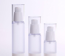 15 мл 30 мл 50 мл матовые бутылки для тела Прозрачный безвоздушный вакуумный насос пустой для пополнения контейнера лосьон сыворотка косметическая жидкость cheap cosmetic serum pump bottles от Поставщики бутылочки для косметической сыворотки