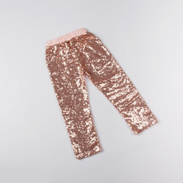 Wholesale Winter Outfits For Party - Princess Pink Sequins Pants ,Baby Girls Sequined Party Leggings ,Girls Pink Birthday outfit,sequins Leggings For kids