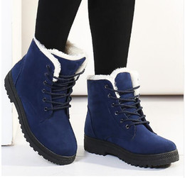 Wholesale Low Heel Boots For Women - Women boots 2017 new arrival women winter warm snow boots fashion heels ankle boots for women shoes