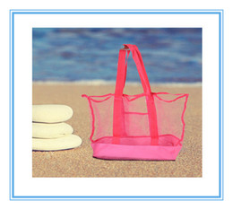 Wholesale Children Clothes Collection - 2015 Lowest price large sand away Mesh Beach Bag Children Beach Toys Clothes Towel Bags baby toy collection bag IN stock 300P B146