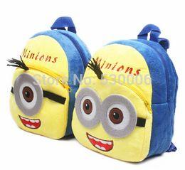 Wholesale Mochilas Minions - Cute Cartoon Minions Baby Boys Mini Soft Plush Backpack Kid Bag Children School Bags mochila infantil menino  mochilas escolares