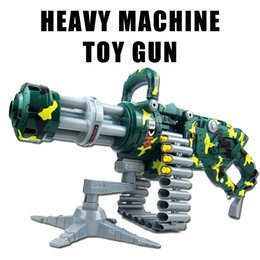Wholesale Car Lighting Items - Sound And Light Toys Gun High quality Toy Gun Camouflage Gatlin Airsoft Air Guns Christmas Gift Kid Airsoft Pistol CS fun sports