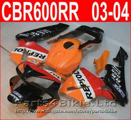 Wholesale cbr repsol body kit - 100% Injection molding REPSOL body parts for Honda fairings CBR600RR 2003 2006 Parts4bike fairing kit CBR 600RR 03 04 CBR 600 RR QBID