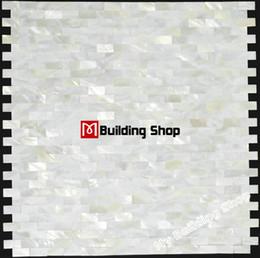 Argentina Mosaico de azulejos de concha de mar de mosaico sin costuras natural protector contra salpicaduras MOP007 azulejos de madre de perla blancos sin lechada mosaico de baño cheap white mosaic mother pearl tile Suministro