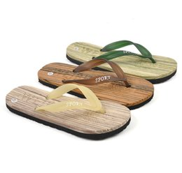 Wholesale Fine Lighting - Fine Wood Men Sandals Beach Flip Flops Casual Men Slippers Pinch Babouche Baboosh Chinela Sandal Foothold Tatbeb Loafer