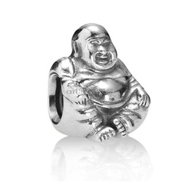 Wholesale Unique Bracelet Designs - Unique Tibetan Buddha design 925 Sterling Silver European Bead Charm Custom DIY Jewelry For Snake Bracelet Chain Wholesale
