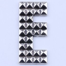 antique floating charms wholesale UK - 250pcs lot antique silver copper plated metal alloy hot selling A-Z Alphabet letter E Pendant charms floating 2123y