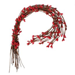 "Wholesale Red Stamens - Gypsum Artificial Flower Stamen Pip Berry Stems Red 40cm(15 6 8""),50 PCs 2015 new Party Decoration"