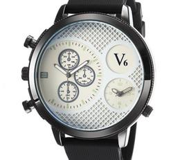 Venta caliente V6 Casual Cuarzo Hombres cara grande Relojes Deporte caucho Reloj Dropship Reloj de silicona Horas de moda Vestido Reloj REGALO DE NAVIDAD desde fabricantes