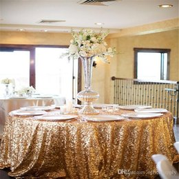Wholesale Christmas Table Cloth Purple - Sequins Table Cloth Custom Made High Quality Wedding Decorations Table Skirting Party Birthday Supplies Table Clothes