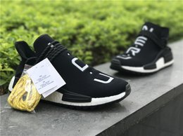 Wholesale B E - Authentics HUMAN RACE NMD Real Boost 3M Y O U N E R D MEN Running SNEAKERS AC7186 Sports Shoes Come Authentic