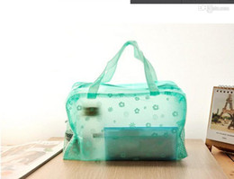 Wholesale Transparent Toiletries Bag - Travel must-transparent waterproof cosmetic bag wash bag wash bath toiletries pouch large capacity WY198 500p