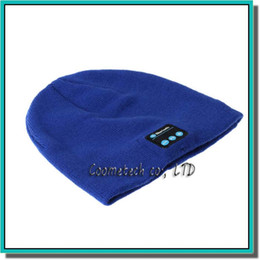 Wholesale Cap Headphones - Wireless Bluetooth Headset Hat Warm Beanie Cute Smart Cap Headphone Headset Speaker Mic For Ipad Cell Phone