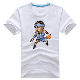 Wholesale Lebron T Shirts - 18 kinds of basketball stars cartoon t-shirts basketball stars cartoon t-shirts of Lebron Kobe Curry Wade etc H0558c