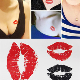Wholesale Tattoo Transfers Lip - Wholesale- 2016 New Water Transfer Lip Print Waterproof Temporary Tattoo Sticker Sexy Product