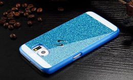 Wholesale S Duos S7562 Hard - Glitter Sparkle Bling S Line Hard Plastic Case For Samsung Galaxy Grand Core Prime G530 G360 E5 E7 Trend Duos S7562 cover Dual Tone Color