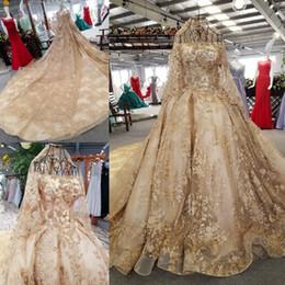 vestidos de novia saab manga Rebajas Vestidos de novia de encaje de lujo Elie Saab vestidos de novia de manga corta vestido de boda de la vendimia tren de la catedral apliques lentejuelas