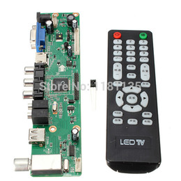 Wholesale Vga Controller - Universal LCD Controller Board 1920*1080 Resolution TV Motherboard VGA HDMI AV TV USB HDMI Interface Driver Board Free Shipping