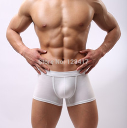 Wholesale Wholesale Mens Underware - Wholesale-Free Shipping High Quality Modal Mens Underwear Man Penis Pouch Boxers Underware Solid Designer Best Price 6Colors(2pcs lot)